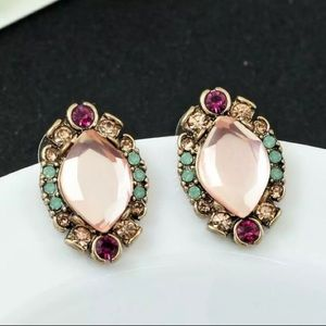 NWT Betsey Johnson Rhinestone Stud Earrings
